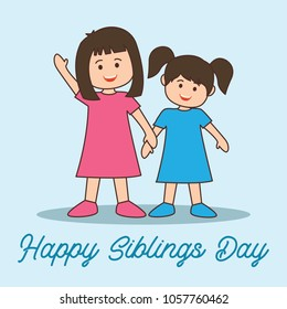 happy sibling's day concept. vector illustration