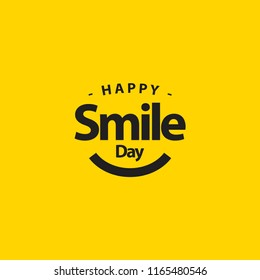 Happy Smile Day Vector Template Design Illustration