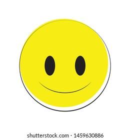happy smiley emoji vector yellow