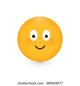 Happy smiley face. Isolated on white background. Vector illustration, eps 10.