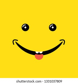 happy smiling face vector illustration