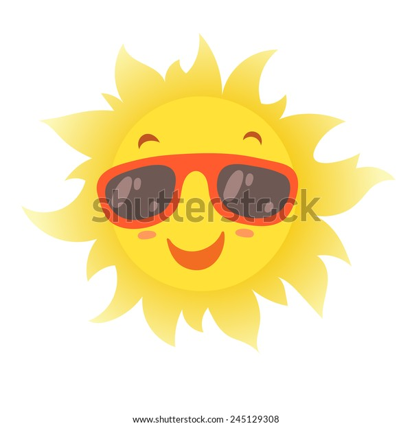 6ae848e3f7bd Happy Smiling Summer Sun Glasses Vector Stock Vector (Royalty Free ...