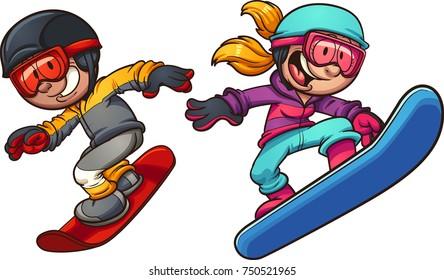 Snowboard Cartoon Images Stock Photos Vectors Shutterstock