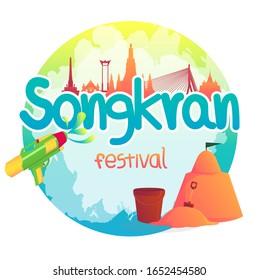 Happy Songkran festival in thailand