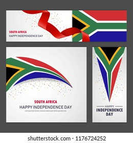 Happy South Africa independence day Banner and Background Set