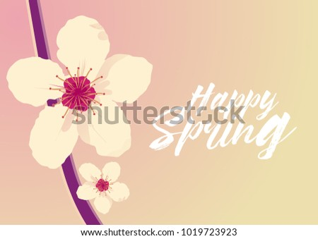Happy spring beautiful greeting card flower stock vector royalty happy spring beautiful greeting card with flower background m4hsunfo