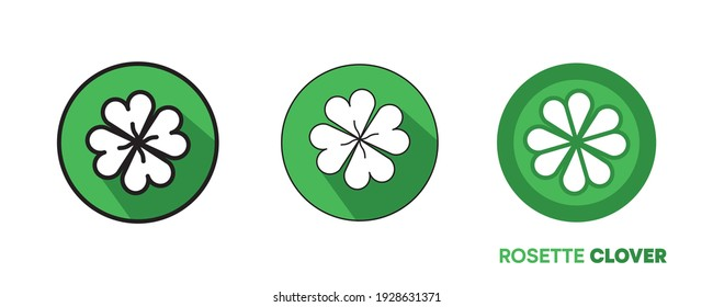 Happy St. Colorful badge design for St. Patricks day. editable shapes. Irish National Holiday. Vector illustration isolated on white background.