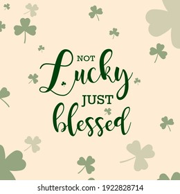 Happy St. Patrick's Day vector illustration with clover and text