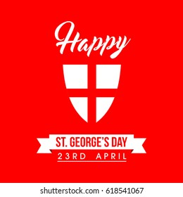 Happy ST. George's Day Logo Vector Template