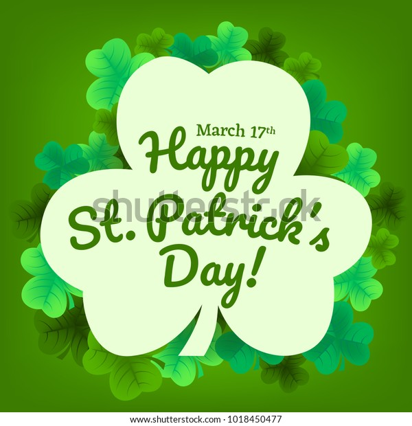 Happy St Patricks Day Invitation Wallpaper Stock Vector