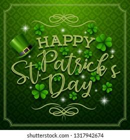 Happy St. Patrick's day typography