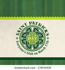 Happy St. Patrick's Day Vector Poster