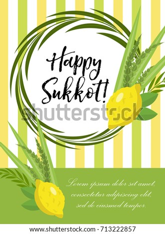 Happy sukkot flyer posters invitation sukkot stock vector royalty happy sukkot flyer posters invitation sukkot template for your design greeting card and m4hsunfo