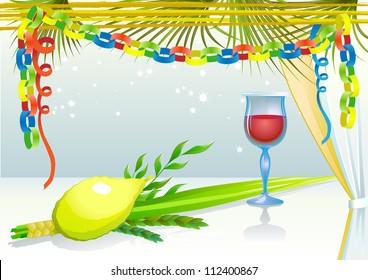 Happy Sukkot with glass of wine
