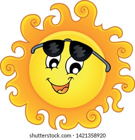 Happy sun topic image 3 - eps10 vector illustration.