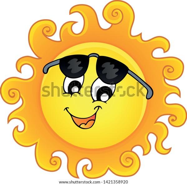 Happy sun topic image 3 - eps10 vector illustration.