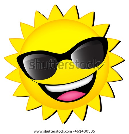 e0ae204cad Happy Sun Wearing Sunglasses Clipart Isolated Stock Vector (Royalty ...