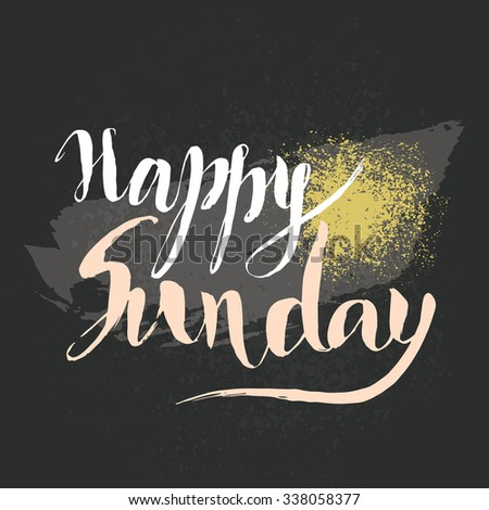 Happy sunday hand lettering vector card stock vector royalty free happy sunday hand lettering vector card with hand drawn lettering phrase element for greeting cards m4hsunfo