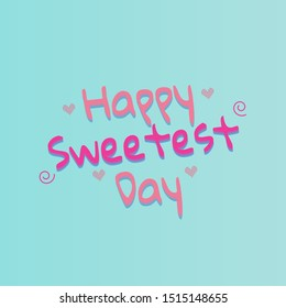 happy sweetest day square cover thumbnail vector
