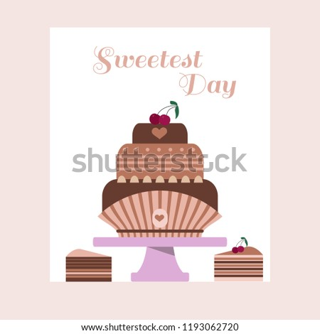 Happy Sweetest Day Template Poster Card Stock Vector Royalty Free