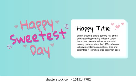 happy sweetest day thumbnail cover vector
