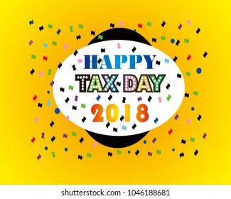 Happy Tax Day 2018 Vector