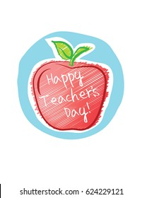 Happy Teacher's Day apple