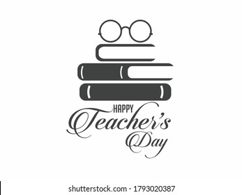 Happy Teacher's Day Logo Vector