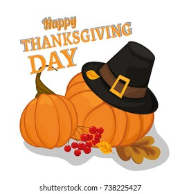 Happy thankgiving day banner