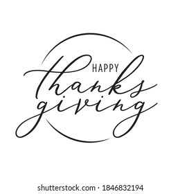 Happy Thanksgiving Banner, Thanksgiving Background, Thanksgiving Text, Holiday Greeting Card, Be Thankful Vector Illustration Background