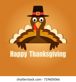 Happy Thanksgiving Celebration Design. Vector Illustration