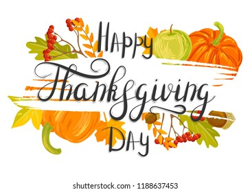 happy thanksgiving day stock vector royalty free 1188637456