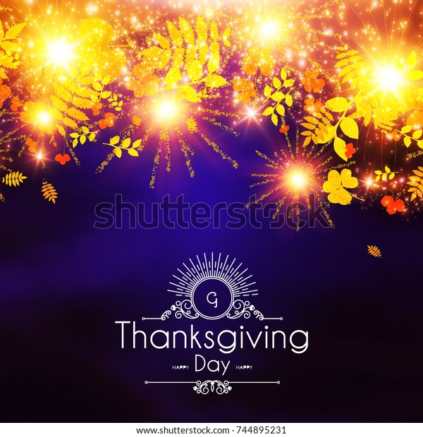 Happy Thanksgiving Day Background Colorful Autumn The Arts
