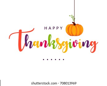 Happy Thanksgiving Day Greeting Card design.