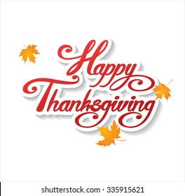 Happy Thanksgiving day! Vector greeting card