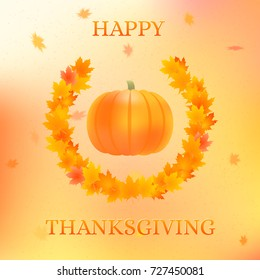 Happy Thanksgiving Greeting Card. Vector Colorful Illustration. Vector Background.