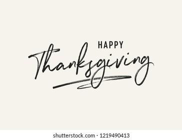 Happy Thanksgiving Holiday Vector Text Background