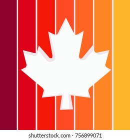 happy thanksgiving . maple leaf vector background