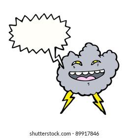 happy thundercloud cartoon