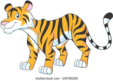 Happy Tiger Cartoon