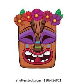 picture relating to Tiki Mask Printable known as Vectores, imágenes y arte vectorial de inventory sobre Colorful