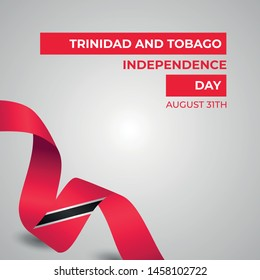 Happy Trinidad And Tobago Independence Day Vector Design Template Illustration