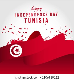Happy Tunisia Independent Day Vector Template Design Illustration
