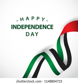 Happy UAE Independent Day Vector Template Design Illustration