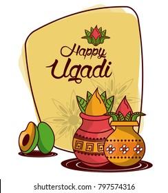 Happy ugadi design