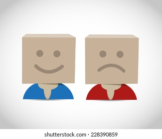 Happy and unhappy box