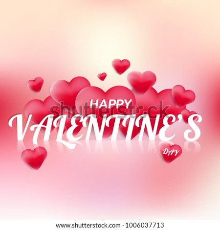 Happy Valentine Day Card 3 D Heart Stock Vector Royalty Free
