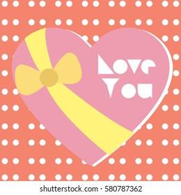 Happy valentine day card Vector Illustration