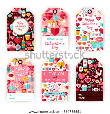 happy valentine day gift tag template stock vector royalty free