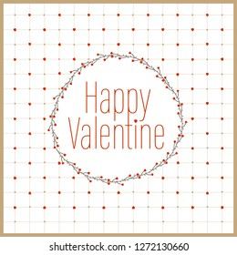 Happy Valentine Day with modern style. White Background. Vector Illustration.